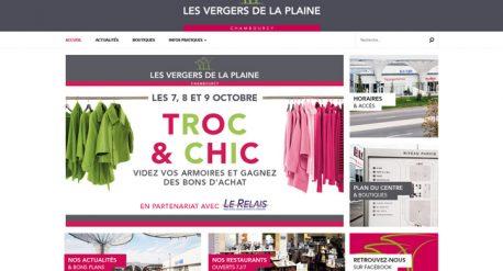 Site internet Les Vergers de la Plaine